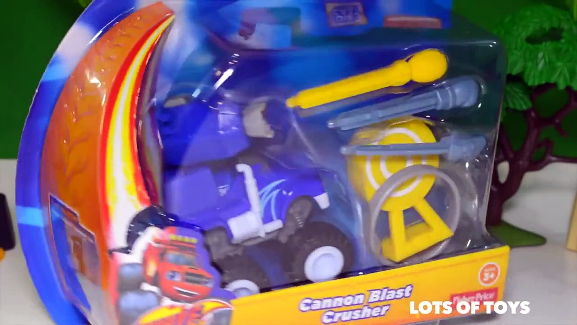 Surprise Blind Bag Blaze and the Monster Machines Cannon Blast Crusher and Starla