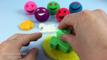 Learn Colors Play Doh Happy Laughing Smiley Face Baby Theme Molds Fun and Creative for Kids Children