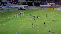 QUASE O EMPATE! No fim do primeiro tempo, o Paysandu manda bola na trave e quase iguala o placar