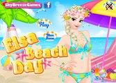Disney Frozen Elsa Summer Game - Elsa Beach Day - Games For Girls in HD new