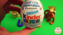 Kinder Surprise Egg Learn A Word! Lesson U Teaching Spelling & Letters Unwrapping Eggs & Toys