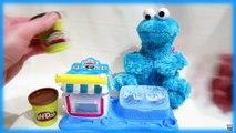 Cookie Monster Eating Play-Doh Cookies | Homemade Play Dough Cookies for Cookie Monster