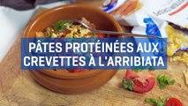 Recette de pâtes protéinées aux crevettes à l'arribiata-sTUm8pTmP3w