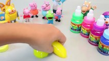 Peppa Pig ToY Play Colors Jelly Slime Ice Cream Clay Surprise Egg learn colours Muddy Puddles