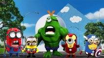 Minions Hulk Finger Family Rhymes   Minions Spiderman Cartoons Finger Family Children Nursery Rhymes
