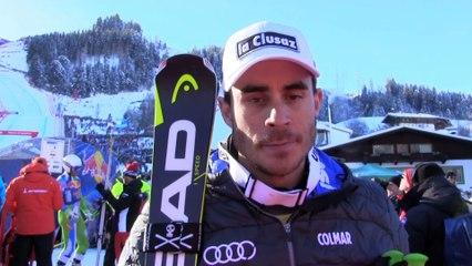 Réaction de Jogan Clarey après sa troisieme place lors de la Descente de Kitzbuhel