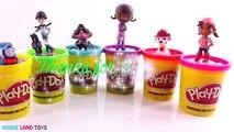 Learn Colors Dora Molly Minnie Anna Wallykazam Play-Doh Dippin Dots Surprise Eggs Tubs Episodes