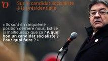 Macron, primaire de la gauche, GPA... Mélenchon, sans langue de bois