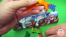 Kinder Surprise Eggs Santa Train LARGE Christmas Egg Candy Toys Unboxing Opening