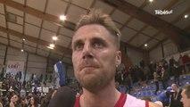 Basket. N1M. Lorient 44 - 45  Quimper : la réaction de Mathieu Bigote
