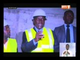 Le premier ministre effectue une visite sur plusieurs chantiers routiers et hydrauliques d`Abidjan