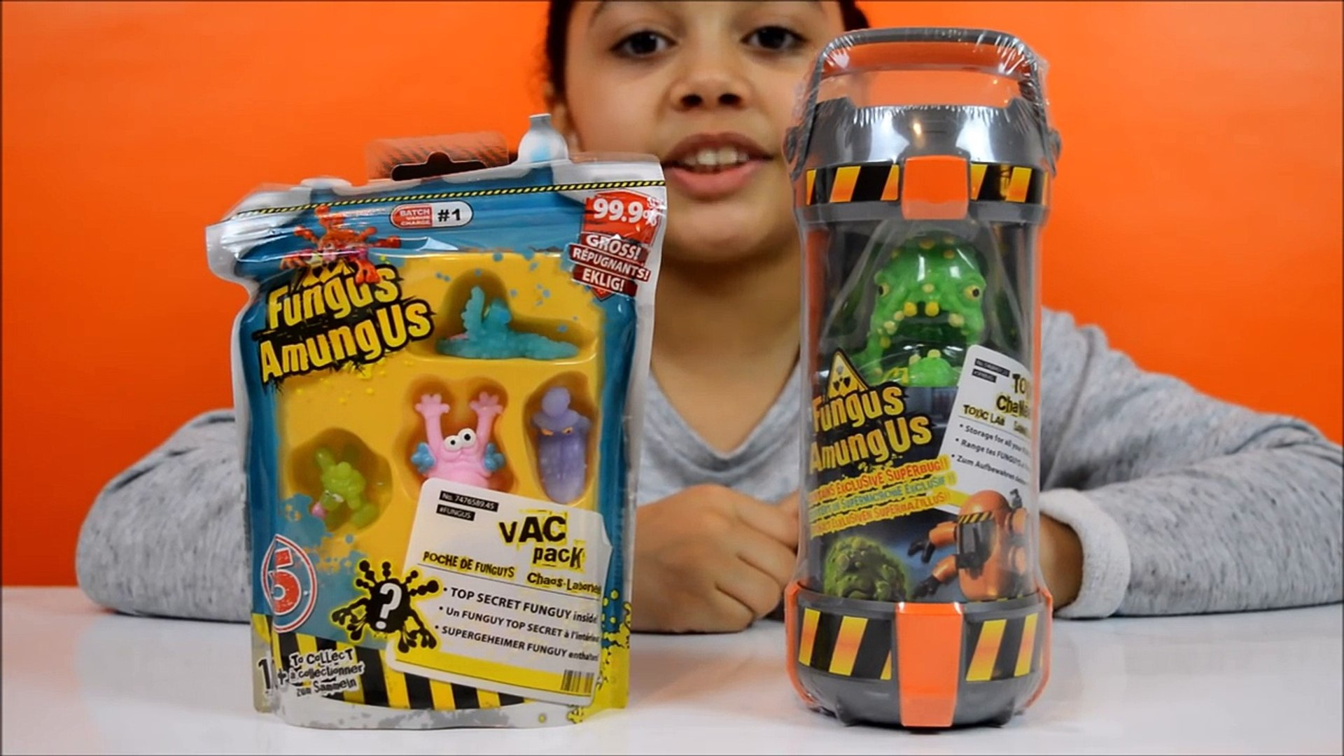 Супер Гросс !! Грибок Amungus Toxic палата | Funguy Коллекция | Детские игрушки Обзор