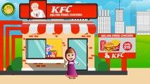 Маша ест цыпленка KFC ведро Маша летающая Маша смешные шалости свинка пеппа Капитан Америка продает в KFC