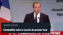 Cambadélis : « nous avons réussi ce premier tour »