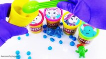 Sheriff Callie Playdoh Surprise Eggs Tubs Learn Colors Dippin Dots Toy Surprises