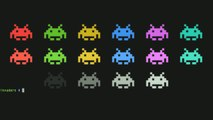 invaders, filling up with colorful Space Invaders-432BmdHnBDw