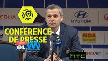Conférence de presse Olympique Lyonnais - Olympique de Marseille (3-1) : Bruno GENESIO (OL) - Rudi GARCIA (OM) - 2016-17