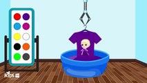 Учим цвета – замороженные elsa футболка цвета для детей – забавная футболка-раскраска для детей