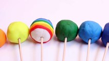 Play Doh Lollipops How to Make Playdough Rainbow Lollipops Pops Candies Play Doh Rainbow