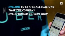 Uber drivers to be paid $20M over driver deception claims