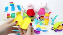 Peppa Pig Play Doh Ice Creams Peppa Playsets Play Dough Ice Cream Parlor Toy Videos
