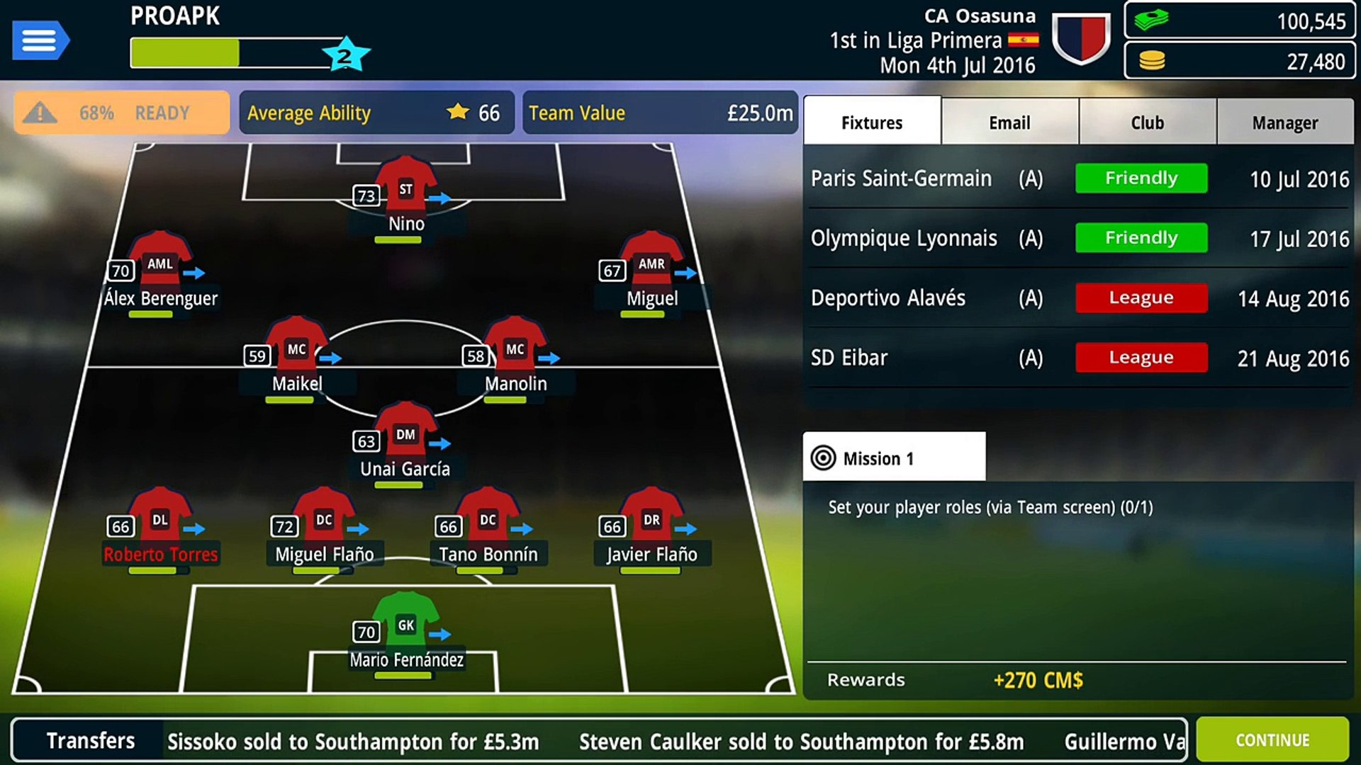 Championship Manager 17 Gameplay iOS / Android