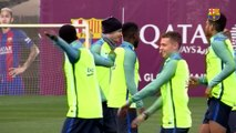FC Barcelona training session: First workout of the week to prepare for Copa return leg