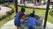 Upside Down House! Real Wishing Well Huge Magic Water Tap Giant Barrel Upside Down Kitchen Pattaya