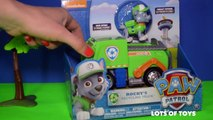 Pups Save the Environment Paw Patrol Rockys Recycling Truck and Rubbles Digger Toy Review