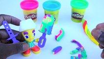 Sparkle Play Doh Rainbow Ice Cream Galaxy + PlayDough Rainbow Hair Style Fun and Creative Kids Play