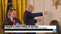 US - What will mark Donald Trump's first week as President of the United States?