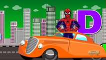Spiderman Cartoon ABC Songs For Children | Spiderman ABC Alphabet Songs For Kids And Toddlers