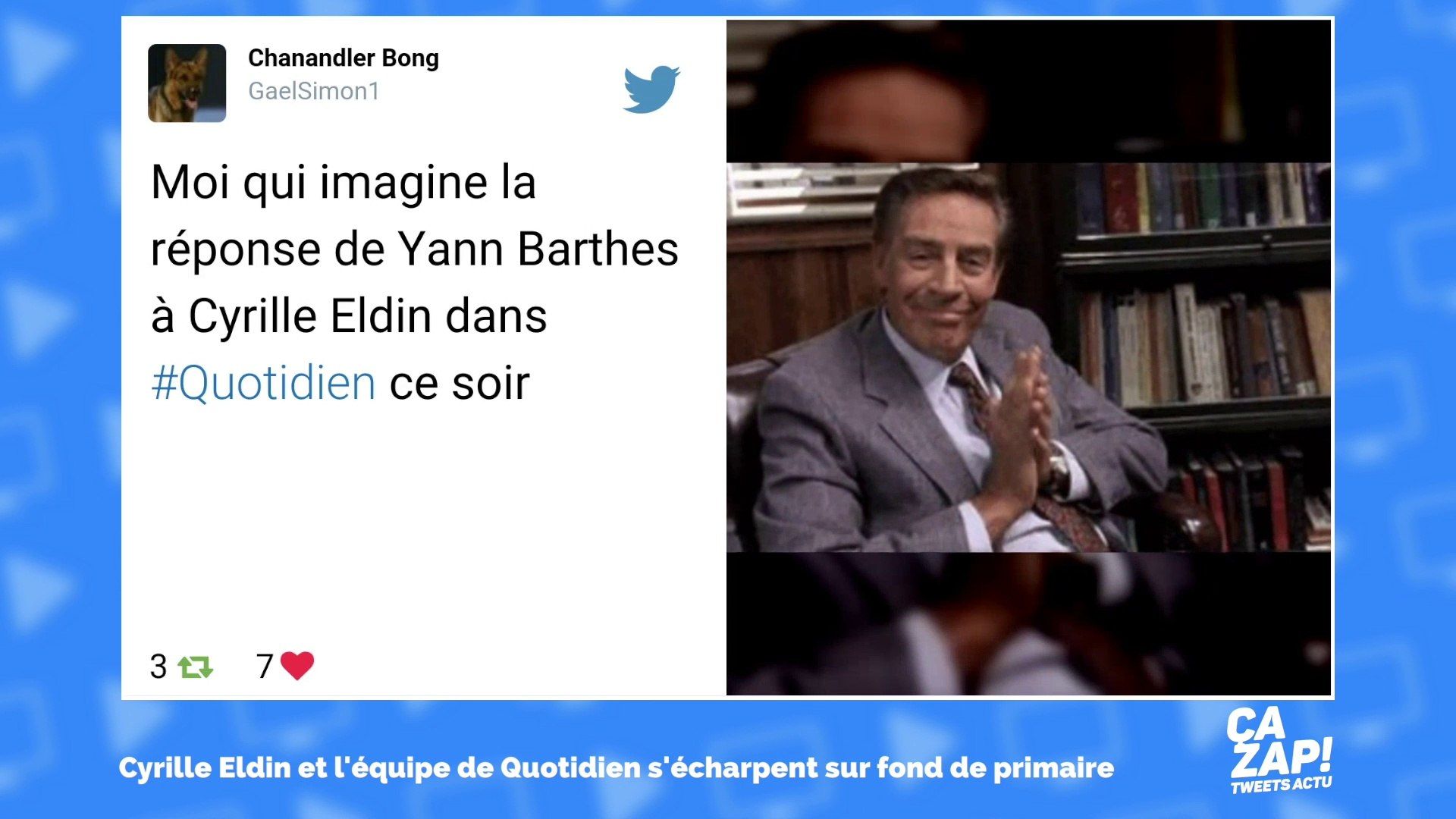 Clash entre Cyrille Eldin et Camille Crosnier de Quotidien : les internautes réagissent !