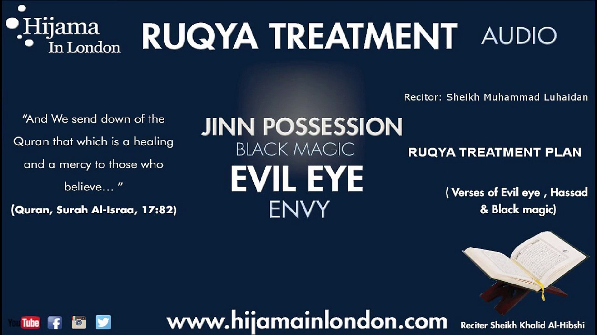 Ruqya Dua Treatment Plan Shir Ayn Jinn Possession Sheikh Muhammad Luhaidan