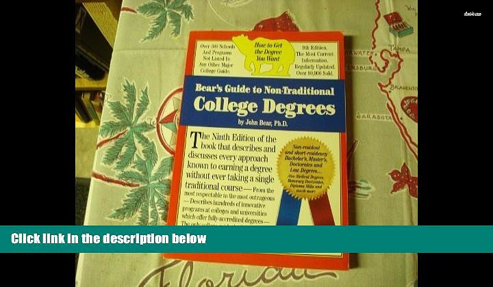 BEST PDF  Bear s Guide to Non-Traditional College Degrees (Bear s Guide to Earning Degrees by