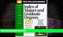 BEST PDF  The College Board Index of Majors   Graduate Degrees 2001: All-New Twenty-Third Annual