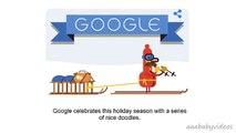 ᴴᴰ Happy Holidays new (Day 2 Christmas Eve) - Animated Google Doodle Tis the season! (new-12-24)