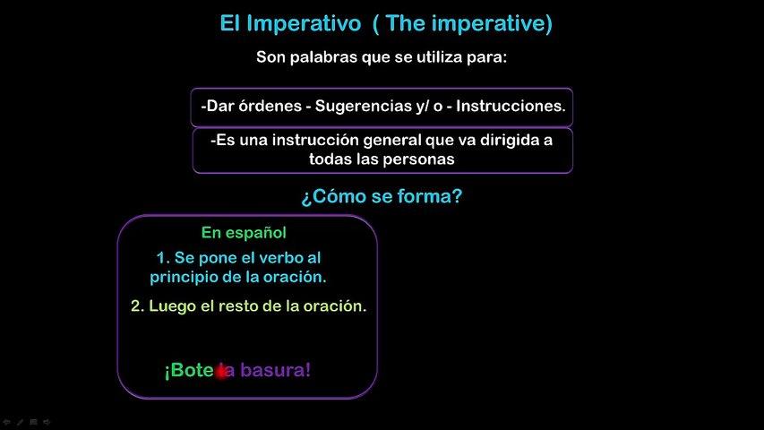 Lesson 10 S10 EL IMPERATIVO