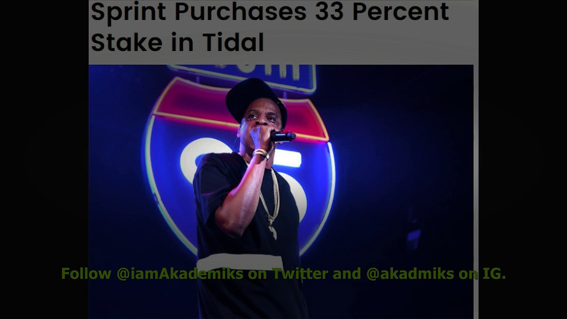 Sprint Buys 33% Of Jay Z's Tidal For $200 Million, They Will Offer Tidal To Their 45 Million Cu