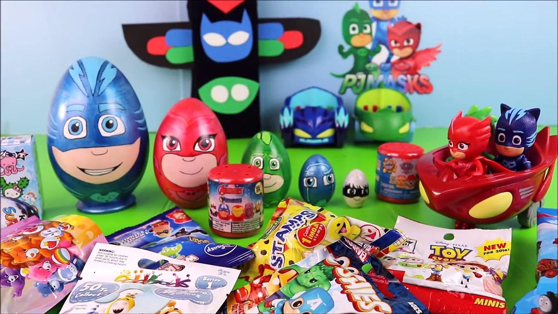 PJ Masks Toy Surprise Nesting Eggs! Disney toys, PJ Masks Episode, Kids Stacking Surprise Toys Video