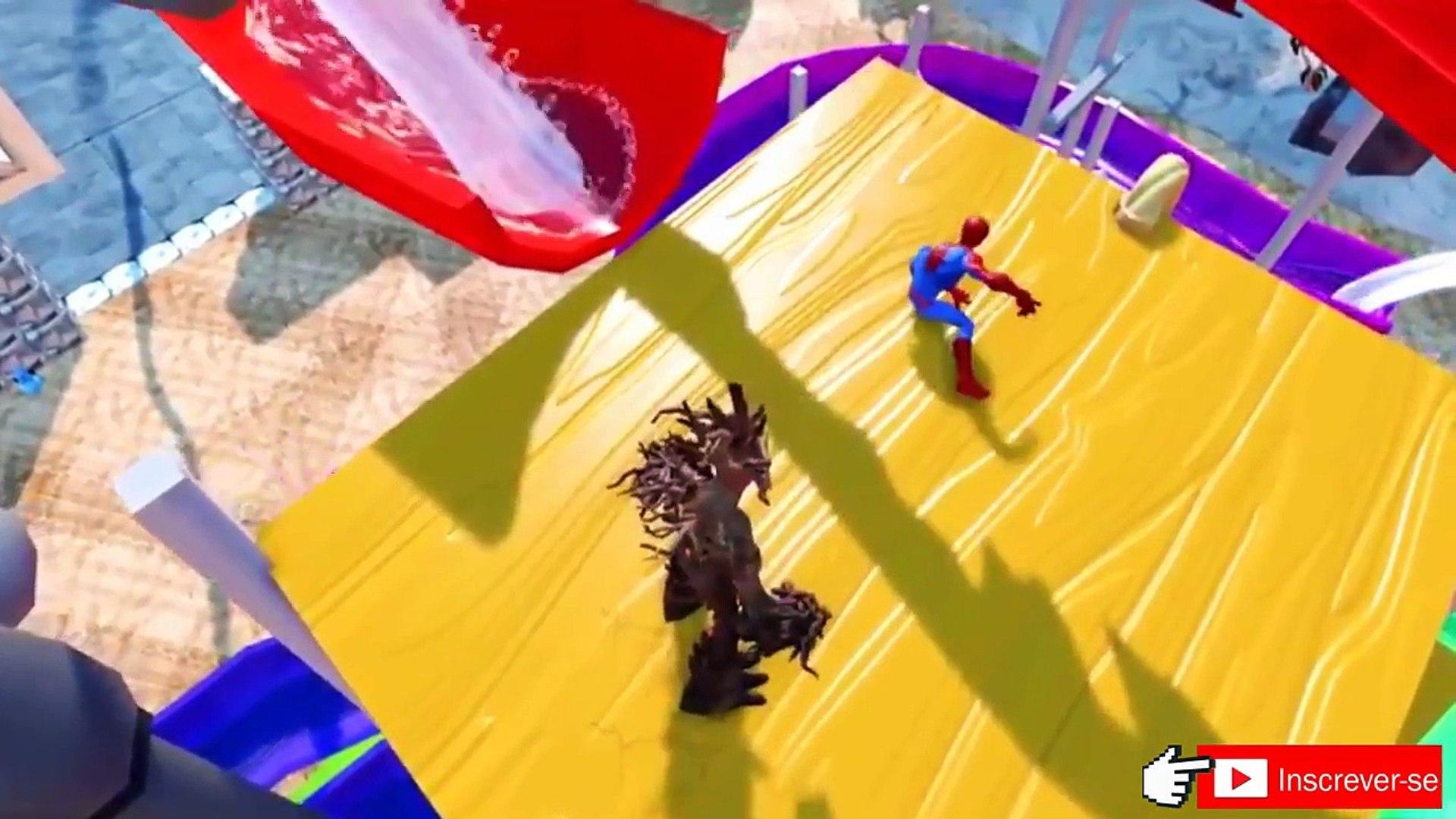 Homem aranha & Groot save Disney Pixar Carros McQueen from prisão, Jogo homem aranha de DCTV