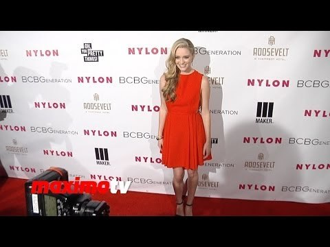 Greer Grammer NYLON & BCBGeneration Young Hollywood Party Red Carpet