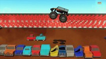 Monster truck | Wheels on the monster trucks go round and round | Nursery rhymes