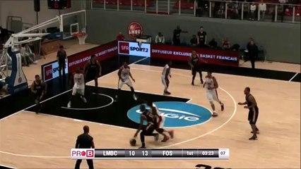 Claquette dunk Deonte Burton vs Fos Provence