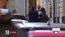 La première image de François Fillon, lunettes noires et visage fermé, depuis sa défaite hier soir