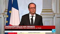 REPLAY - François Hollande La présence de l'extrême droite fait courir un risque pour le pays. Je voterai Emmanuel Macron