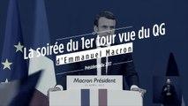 La soirée électorale du 1er tour vue du QG d'Emmanuel Macron