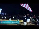 IPC Blogger - Scott Danberg receives the flag, Paralympics 2012