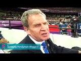 Mike Brace - Mike Brace on the Paralympics audio description, Paralympics 2012