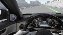 L'assistant de changement de voie actif de la Mercedes Classe S réalise le changement de voie